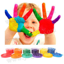 6PCS/LOT,30ml 6 color finger painting,Learning & Education toy.Drawing Toys,Finger art,Create your own hobby,Kindergarten crafts(China)