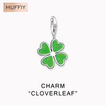 Green Cloverleaf Charm,Thomas Style Muffiy Club Good Jewelry For Women,Ts Lucky Gift In 925 Sterling Silver Fit Bag,Super Deals