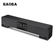 HAOBA A3 TV Soundbar Home Theater Music Center Sound Bar FM Radio Column LED Bluetooth Speaker for TV Computer iphone Xiaomi(China)