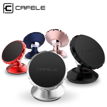 CAFELE Universal Strong Magnetic Car Mobile Phone Holder 360 Rotating Car Mount holder Mini Holder Stand for iPhone 7 Huawei P10