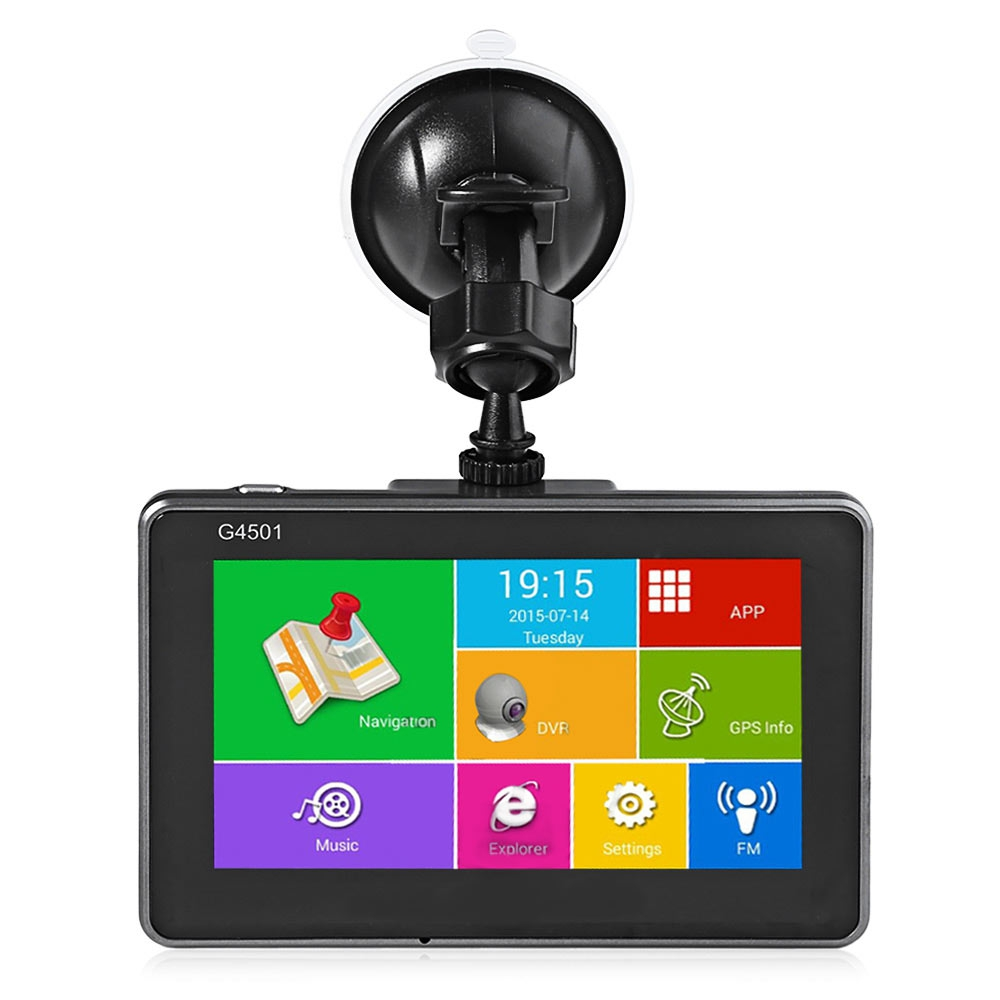 1080P Car Dvr Android 4.4.2 Tablet GPS Navigation 4.5 Inch MTK8127 Bluetooth WiFi FM Player HD IPS Screen Car DVR Recorder Dash(China (Mainland))
