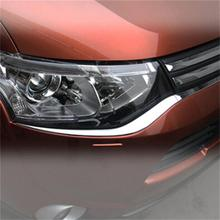 Car-Styling Accessories FOR 2013 2014 2015 MITSUBISHI OUTLANDER ABS CHROME FRONT HEAD LIGHT EYEBROW EYELID GARNISH TRIM COVER(China)