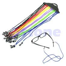 NEW Colorful 12Pcs Eyewear Nylon Cord Reading Glass Neck Strap Eyeglass Holder