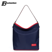Bostanten Women Handbags Nylon Casual Tote Original Design Red/Brown Top Zipper Large Hobo Bag Ladies Handbags Top-handle Bags