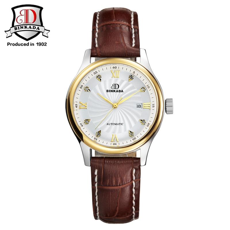 BINKADA Ladies Automatic Women Steel Watches Top Brand Luxury Ladies Automatic Mechanical Watch Waterproof Dress Wristwatch<br>