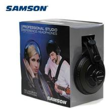 a pair of Original Samson SR850 monitoring HIFI headset Semi-Open-Back Headphones for Studio,with leathe earcup,2pcs in one box(China)