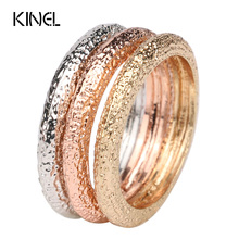 3pcs Midi Ring Luxury Rose Gold Color Fashion Wedding Accessories For Women Party Gift LY Vintage Jewelry