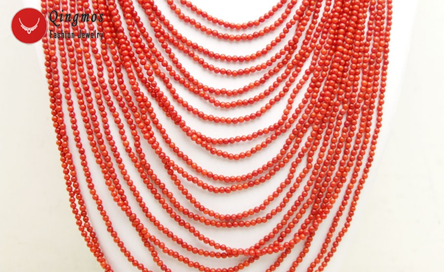 """Silver CHAIN 10mm Round Red Coral Tin Cup Necklace 17/"""""""