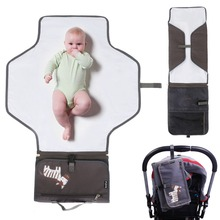 Baby Care Products Travel Diaper Changing Cover Mat Nappy Pad Bag Storage Pockets Waterproof Changing Station Kit Diaper Clutch