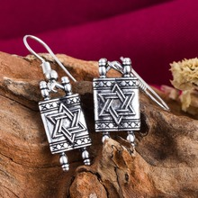 Dawapara Star Of David Jewish Hebrew Sefer Torah Scroll Religious Drop Earrings Women Jewelry