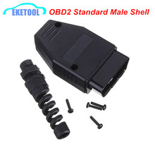 OBD2 Standard 16Pin Connector Plug Male Shell Female 16 Pin Connector OBD2 OBDII EOBD JOBD ODB J1962 Wiring Diagnostic Adapter