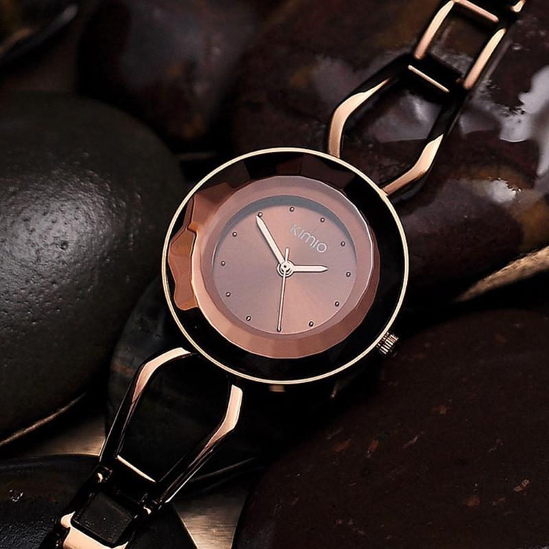 Luxury Womens Bracelet Watch Ladies Quartz Analog Pointer Round Wristwatch Alloy Chain Band<br>