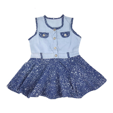 1-3 Years Baby Denim Dress For Toddler Girls,2017 New Fashion Casual Sleeveless Patchwork Children's Clothing Girls Dress DRS016