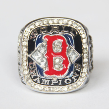Drop Shipping Hot Sale sports fan 2004 Boston Red Sox Replica Championship Ring Size 11 ,Rhodium Plated Mens Ring(China)