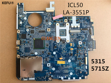KEFU 5715Z 5315 For Acer ICL50 LA-3551P Laptop Motherboard MBAKM02001 fully tested working well(China)