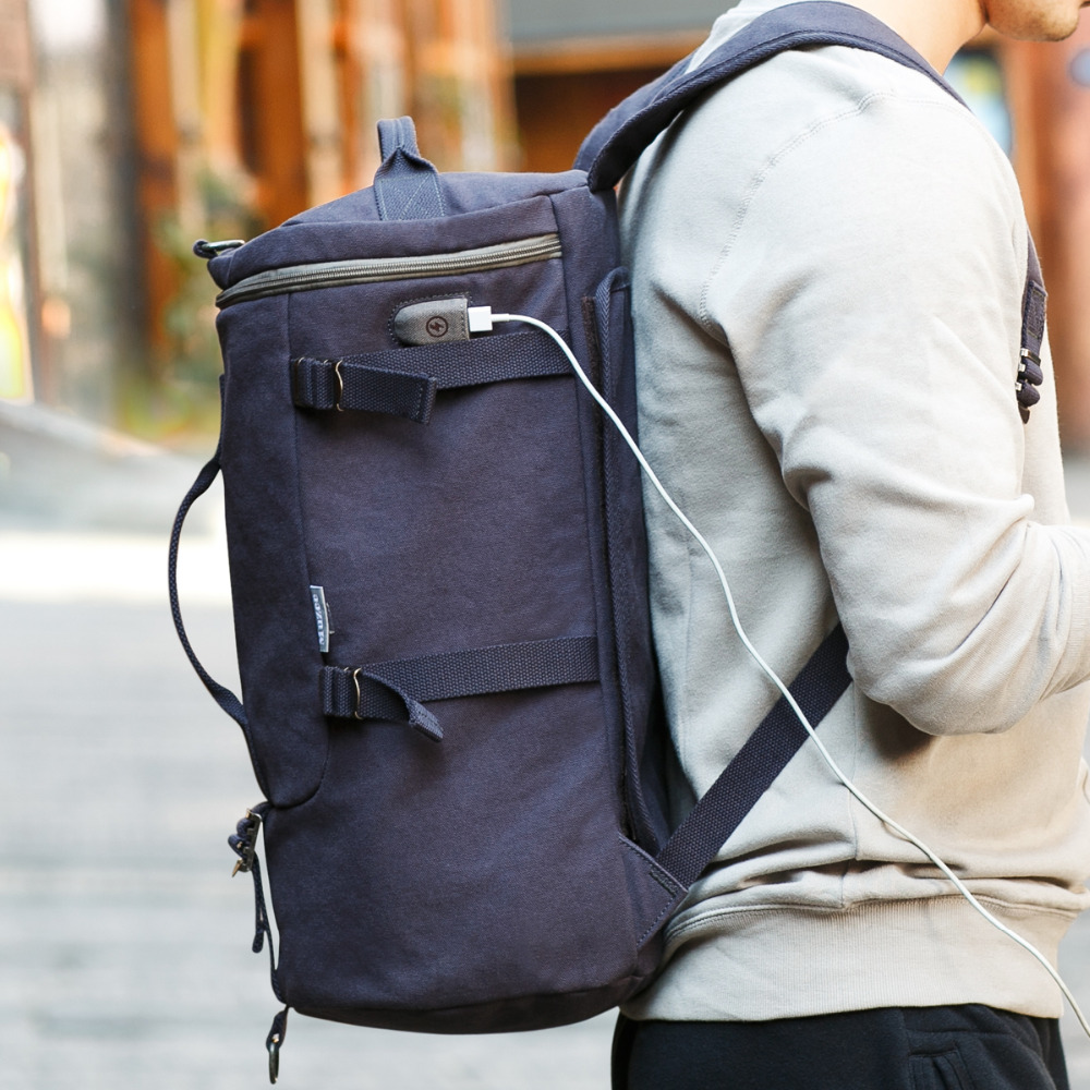 Muzee High Capacity Travel Bag New Arrival Cylinder package Multifunction Rusksack Male Fashion Backpack<br><br>Aliexpress