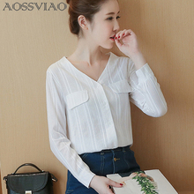 Buy AOSSVIAO Vetement Femme Long Sleeve Shirt Women Clothes 2018 Womens Tops Fashion Women Blouses Cotton White Blouse Casual Blusas for $10.92 in AliExpress store