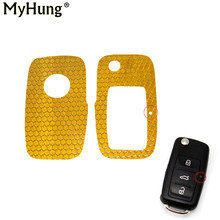 Car Key Reflective Sticker Cover Case Special For Volkswagen VW Golf 6 Jetta Tiguan New Polo Car Key Decoration Car Styling 2pcs