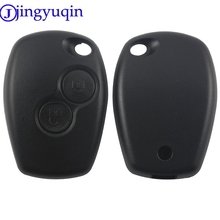 jingyuqin 2 Buttons Car Key Shell Remote Fob Cover Case Blank Fob For Renault Dacia Modus Clio 3 Twingo Kangoo 2 No Logo(China)
