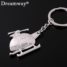 plane promotional product hign end plane key ring jewelry wholesale Personality helicopter fashion Creative metal keychain(China)