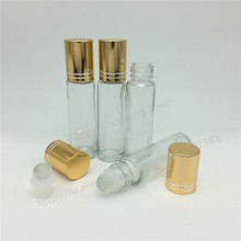 DHL Free shipping 200 x 10ml Roll on perfume bottle, 10 ml clear essential oil roll on bottle, small perfume bottles