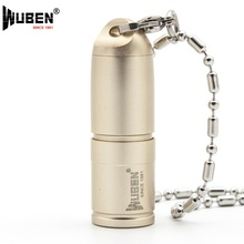 LED Flashlights Small Torch Lamp USB Only 41mm 130 Lumen with Necklace Portable Design Keychain Mini Light +Battery WUBEN G344(China)