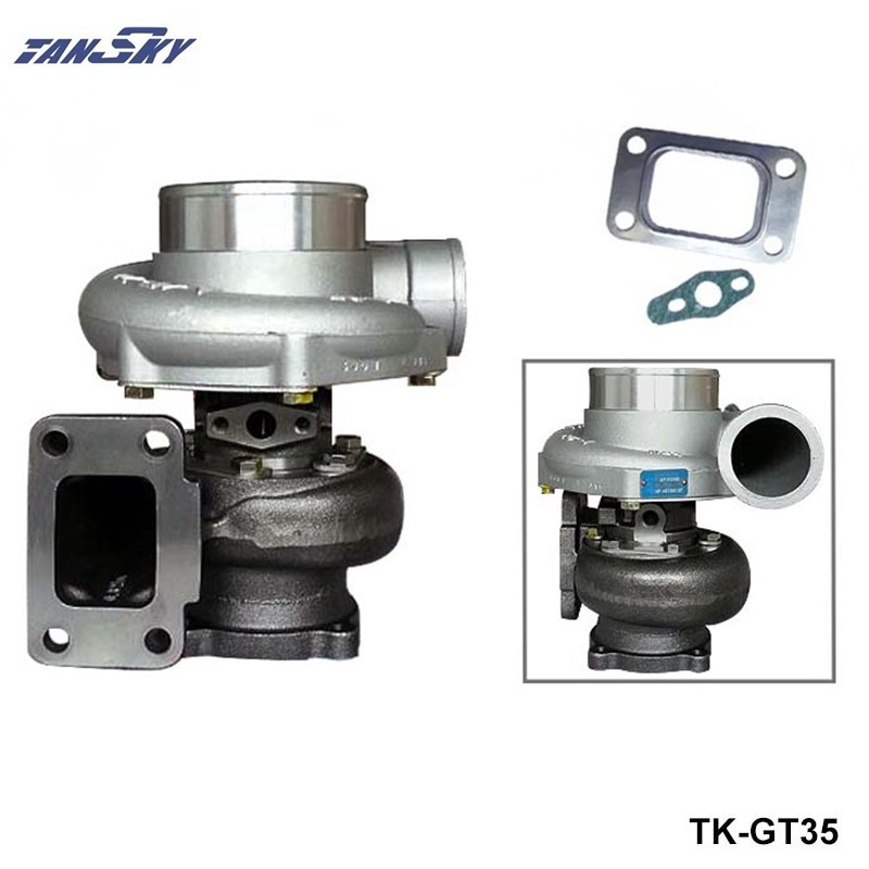 TANSKY- GT35 GT3582R :A/R 0.70 Turbine:A/R 82 T3 Flange wet float bearing 4 bolt 400-600hp turbocharger turbo charger TK-GT35