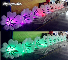 Party and Wedding Decorations Inflatable Artificial Flowers Chain with RGB Led Lights(China)