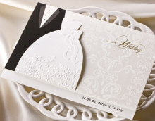 Bride Groom Design Wedding Greeting Invitation Card Envelopes Sticker BH2046(China)