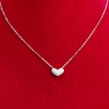 S925 Sterling Silver Heart Necklace Pendant