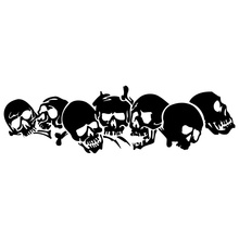 22.8*6.7CM SKULL Vinyl Car Stickers Motorcycle Decals Car Styling Accessories C2-0608(China)