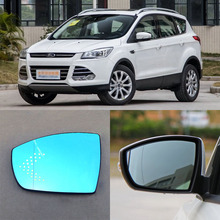 For Ford Escape Brand New Car Rearview Mirror Blue Glasses LED Turning Signal Light with Heating(China)