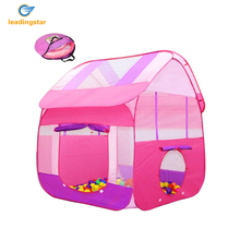 LeadingStar 2pcs Childrens Play Tents with Tunnel Pop up Indoors/Outdoors Tent for Boys & Girls Pink zk35(China)