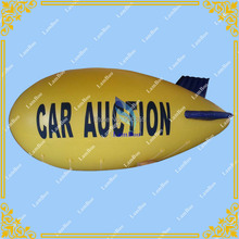 8m/26ft Long Yellow Inflatable Zeppelin for Different Events/Inflatable Airship for Advertisement,Inflatable Blimp(China)