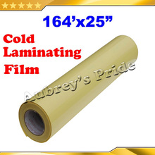 "25""X164' (0.635x50M) Glossy UV Luster Cold Laminating Film Protect Photo For Cold Laminator"