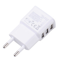 Charger for Phone 5V 2A EU 3 USB Charger EU Plug USB Power Adapter Wall Charger For Oneplus iPhone 6/5S/5/4S Samsung Galaxy