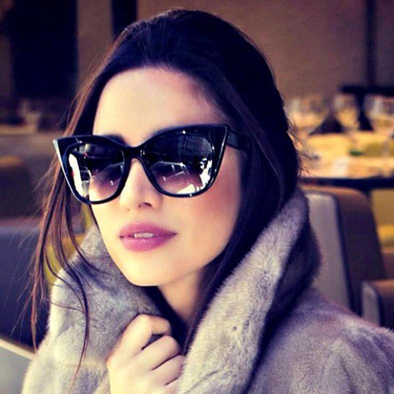 Luxury Vintage Cat Eye Sunglasses Women Brand Designer Retro Female Sunglass Points Sun Glasses For Women Ladies Sunglass Mirror (1)