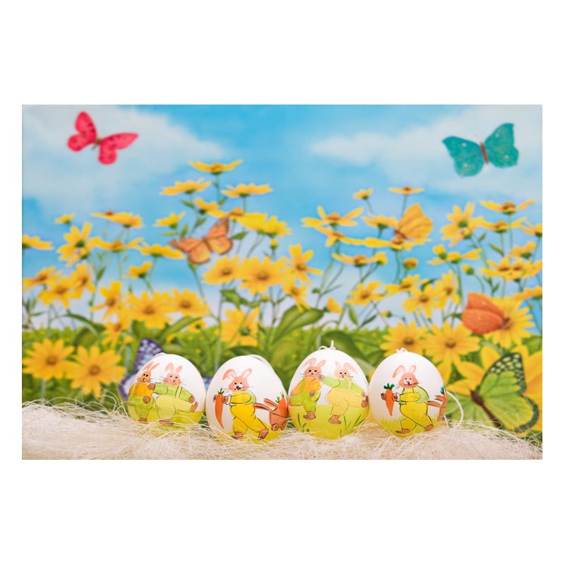 2.2MX1.5M For taking pictures there are beautiful flowers and colorful eggs happy Easter printed vinyl background GE-143<br><br>Aliexpress