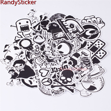 Mixed 50 Black And White sticker for kids Home decor on laptop sticker decal fridge skateboard cut doodle sticker toy sticker