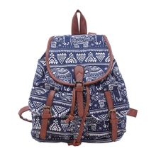 VSEN Girls Ladies Womens Canvas Backpack Rucksack School Bag Casual Bag Daypack Blue