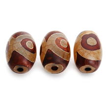 5pcs/lot Natural Agates Tibet Loose Dzi Heaven Beads For Jewelry Making Big Hole Charm Beads Bracelet Necklace Accessories F3988