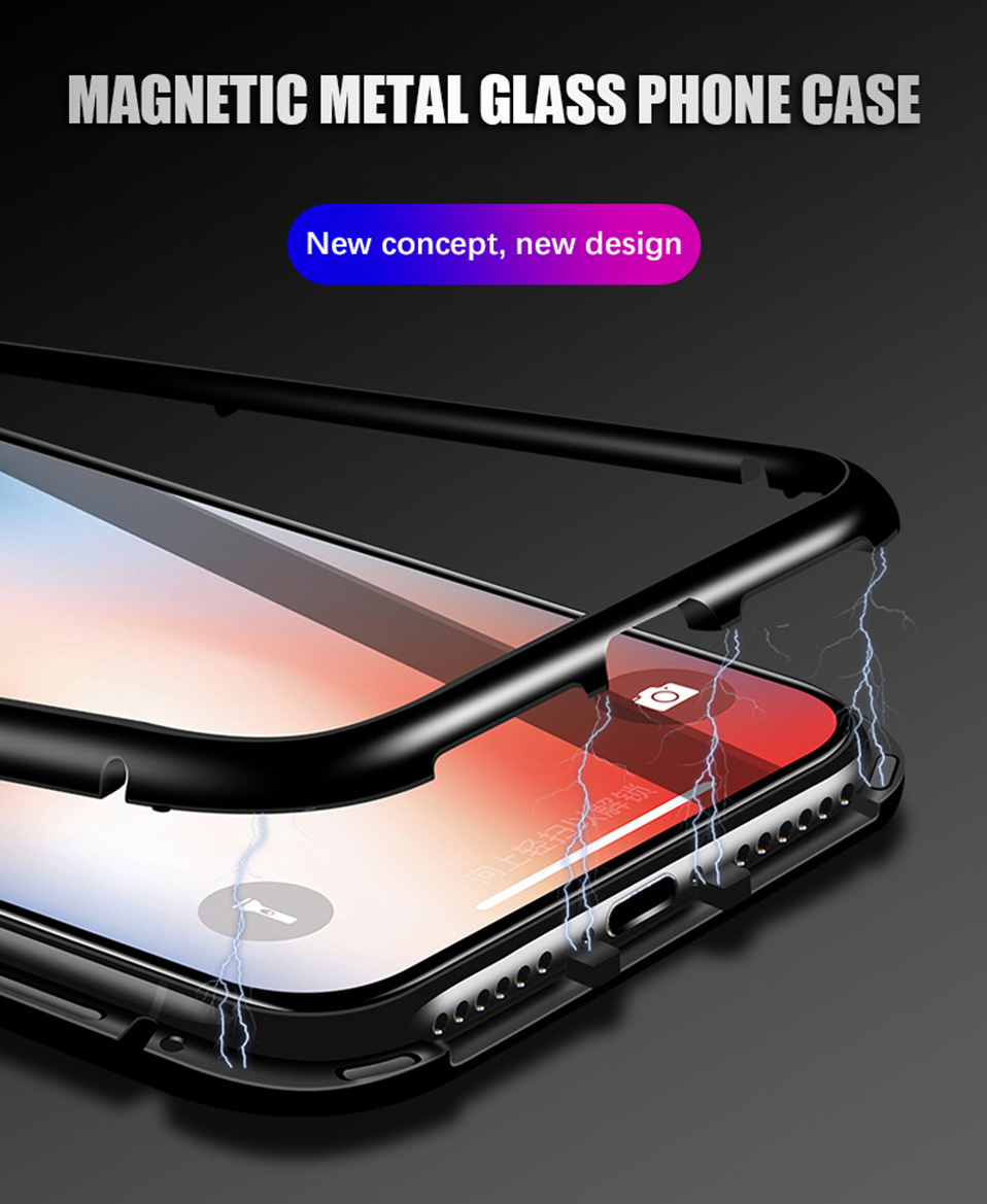 magnetic adsorption metal phone case for iphone 6 6S plus 7 8 plus x xs max xr(1)