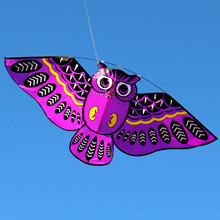 110*50cm Kids kite 4color Owl Kite With Kite Line Easy To Fly Outdoor For Fun Children Toy(China)