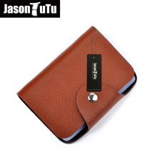 JASON TUTU Card holder 26 pages credit card holder New promotions men and women porte carte 2017 high quality Black, yellow B376