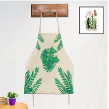 DoreenBeads 1PC 56*68cm Lovely Flower Leaves Apron Antifouling Sleeveless Apron Cleaning Kitchen Cooking Bakery Coffee Shop(China)