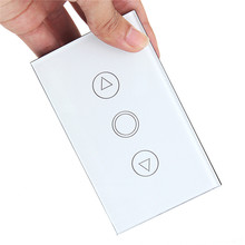 1 Gang Home Light Lamp LED Touch Sensor Remote Control Dimmer White Crystal Panel Wall Smart Switch US Hot(China)