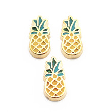 Buy Hot selling 10pcs/lot golden Pineapple Floating Charms Fit Living Glass Floating Lockets Bracelet DIY Charms Jewelry Accessory for $1.35 in AliExpress store