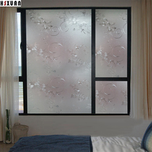 decor window privacy film sunscreen paper 70x100cm 3D floral Self adhesive no glue static glass window sticker Hsxuanbrand700621(China)
