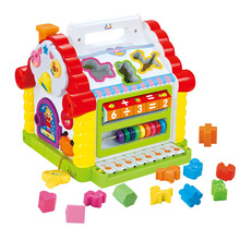 Fun House Flash Piano Music Cognitive Blocks Children Toys Puzzle Blocks Matching Digital Cognitive Shape House