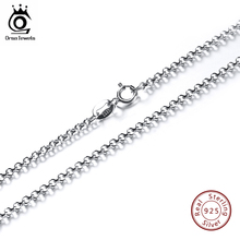 Buy ORSA JEWELS 45CM Necklace Chain 925 Sterling Silver Lobster Clasp Adjustable Simple Necklace Chain Fashion Necklace Jewelry SC04 for $6.73 in AliExpress store